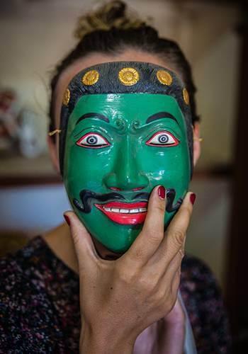 Put on a Bali mask