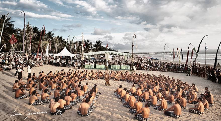 Kecak Dance on Legian beach