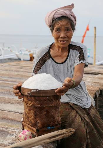Local salt farmer in Bali